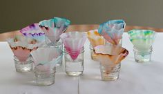 Looking for some spring themed science for kids? You'll definitely want to explore chromatography using coffee filters and markers. The results from this science experiment can even be used to create a colorful butterfly craft for kids!
