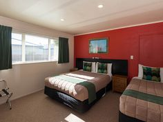 Large Family Suite with Massage Shower/Spa - Rotorua Accommodation Spa Massage, Serviced Apartments, Shower, The Originals, Bed, Furniture, Home Decor, Rain Shower Heads, Stream Bed
