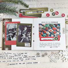 December Mini Book Layout by Heather Nichols for Papertrey Ink (October 2017)