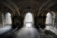 The waiting room of Michigan Central Station