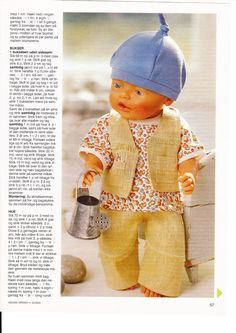 Albumarkiv Baby Born, Doll Clothes, Crochet Hats, Album, Sewing, Paper Dolls, Fashion, Puppets, Dressmaking