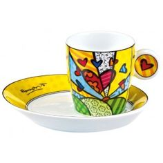 Walt Disney Romero Britto Tasse Winnie the Pooh MUG Keramik Pop Art  Neu