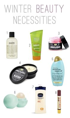 Winter beauty essentials for dry skin, hair, and lips!