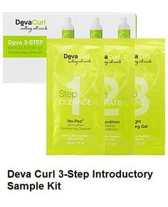 Canada Beauty Supply - Deva Curl 3-Step Introductory Sample Kit - No-Poo, One Condition, Defining Gel, $9.99 (http://www.canadabeautysupply.ca/deva-curl-3-step-introductory-sample-kit-no-poo-one-condition-defining-gel/)