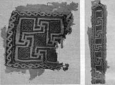 Segmente- this is a squared decorative element that was that was applied to the end of the clavi in mens clothing.or on the end of the palla in women's clothing. the were also place on the hem of the tunic.