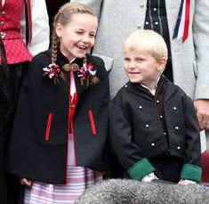 Princess Ingrid Alexandra of Norway with her little brother Prince Sverre Magnus of Norway.