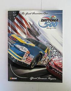 Daytona 500 Program Official Souvenir 2002 with the Starting Lineup & Race CD