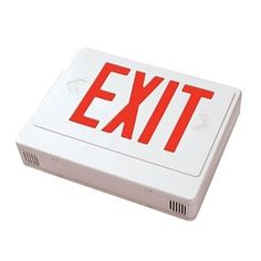 Never worry about replacing emergency exit sign bulbs again. Long life LED bulbs ensure you're always up to code. Led Outdoor Flood Lights, Emergency Exit Signs, Shape Chart, Temperature Chart, Light Bulb Bases, Types Of Lighting, Learning Centers, House Projects, Save Energy