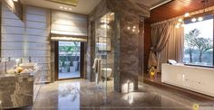 Designed and styled by Monica Chawla of Essentia Environments Toilets, Modernism, Bathroom Designs, Service Design, Danish, Showers, Modern Design, Bathrooms, Environment