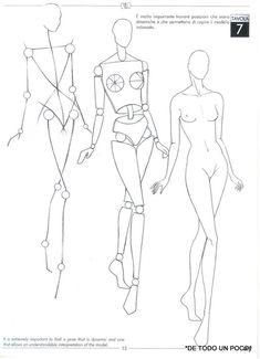 Álbum - Google+ Fashion Figure Templates, Fashion Design Template, Fashion Design Drawings, Fashion Sketches, Illustration Techniques, Illustration Tutorial, Drawing Techniques, Drawing Templates, Figure Sketching
