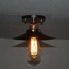 31.29$  Watch here - https://alitems.com/g/1e8d114494b01f4c715516525dc3e8/?i=5&ulp=https%3A%2F%2Fwww.aliexpress.com%2Fitem%2FAmerican-Retro-Loft-Vintage-Edison-Bulb-Ceiling-Lights-Lamp-With-1-Light-For-Living-Room-Hallway%2F2030212129.html - American Retro Loft Edison Vintage Ceiling Light For Home Lighting Living Room Lights Hallway Industrial Ceiling Lamp Plafon