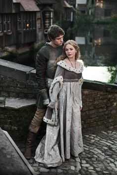 King Edward IV (Max Irons) & Elizabeth Woodville (Rebecca Ferguson) 'The White Queen' 2013. Costumes designed by Nic Ede.