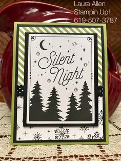 I used the Merry Little Christmas DSP, Carols of Christmas stamp set, and, Merry Little Christmas Memories & More card pack. Old Olive, and Black.