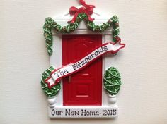 NAME PERSONALIZED Christmas ORNAMENT 2018 Red Door Our New Home First Apartment