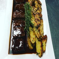 Short ribs and potatoes from yesterday's tasting for Baldwin school #yum #catering #classic #foodie