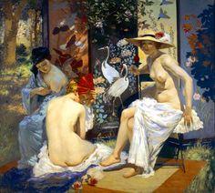 Rupert Bunny (1864-1947)  The Sun Bath