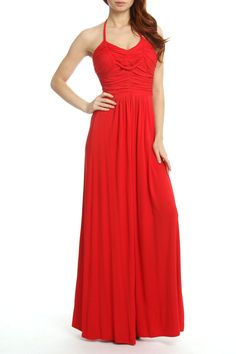 Beautiful and comfortable.   this type of jersey maxi dress is perfect for travel! It looks chic, but won't really wrinkle