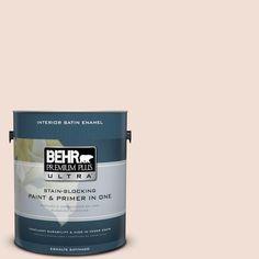 BEHR Premium Plus Ultra 1-gal. #ppl-62 Blushed Cotton Satin Enamel Interior Paint