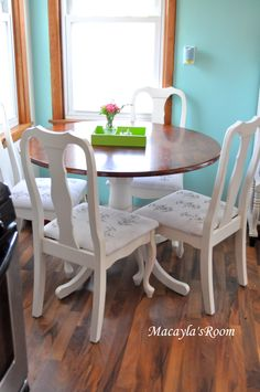 paint dining chairs white