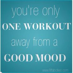 Exercise improves mood