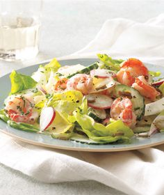 Creamy Shrimp Salad With Endive and Cucumber