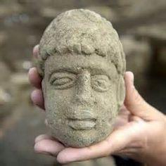 Roman influenced Irish stone head.