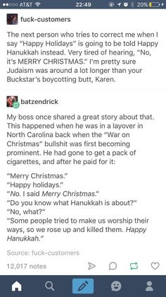 RESPECT PEOPLE WHO SAY HAPPY HOLIDAYS INSTEAD OF MERRY CHRISTMAS