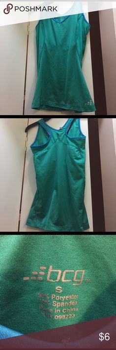 Athletic tank Green and blue BCG workout tank. Built in bra, non-padded. Only worn twice! Super comfy. Size small Tops Tank Tops