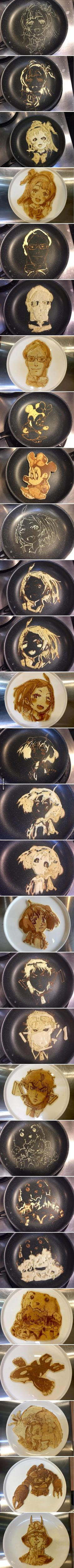 Pancake Art. Give me this and i will love you