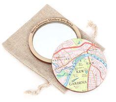 Map pocket mirror | Gifts Less Ordinary