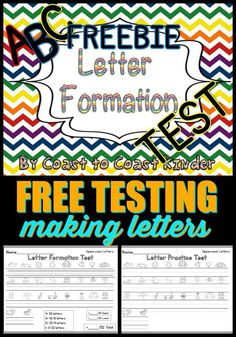 FREE letter formation test. Great for a quick test or to use with end of quarter progress reports