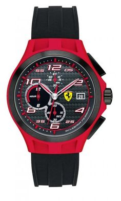 Ferrari - Mens Black & Red SF 102 \'Lap Time\' Watch - 0830017 - Online Price: £195.00
