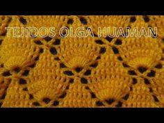 Puntos tejidos a crochet y/o ganchillo paso a paso fácil de tejer en video tutorial, puntos tejidos especiales para tejer colchita o mantita de bebe, chompa...