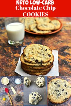 Keto Low-Carb Soft and Chewy Chocolate Chip Cookies is the best quickand easy cookie dough recipe. These cookies are gluten-free and practically zero and no carb with only 1 gram of net carbs! This dessert is perfect for ketosis and the ketogenic diet. Low Carb Chocolate Chip Cookies, Keto Chocolate Chips, Keto Cookies, Chocolate Chocolate, Simple Cookie Dough Recipe, Chip Cookie Recipe, Keto Cookie Dough, Diet Desserts, Low Carb Desserts
