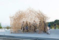naoya matsumoto uses reed to construct enchanting yoshi bar
