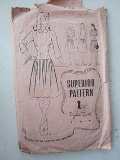 Vintage 1940s Superior Pattern 9614 RARE Size 18 by JoysinStitches