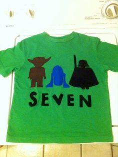 Lego Star Wars Birthday Shirt by OllieandMike on Etsy, $20.00