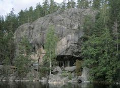 Kalliomaalaus Ristiinan Astuvansalmella Kuva: Museovirasto (Helena Taskinen) (1998)