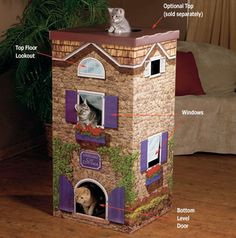 <b>Buy or DIY your cat's dream home. Meow!</b>