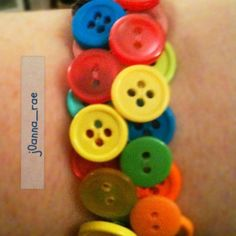 #button #bracelets #crafts.. figured out how to attach them xo