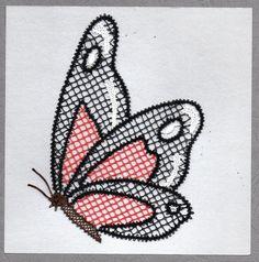 Ils vont bientôt revenir folâtrer dans nos jardins.....   C'est un papillon que Dominique vous propose de réaliser.    Vous l'aviez déjà vu ...