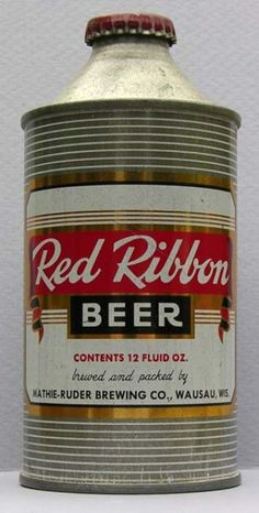 Red Ribbon Beer Can from Mathie Ruder Brewing Co.
