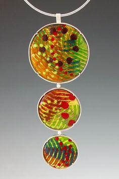 L. Sue Szabo, jewelry artist; enamel.