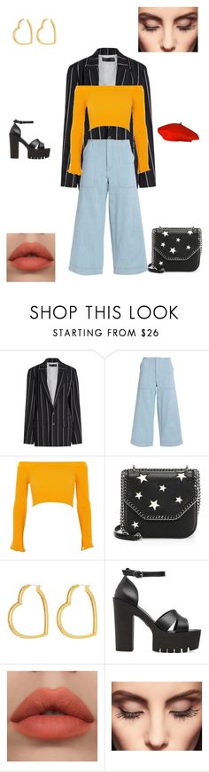 """Untitled #6"" by gladyslawrencia on Polyvore featuring Haider Ackermann, Acne Studios, River Island, STELLA McCARTNEY, Henri Bendel and Claire Evans"