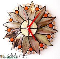 Hajnalcsillag tiffany falióra - ballagásra, esküvőre (magdidesign) - Meska.hu Techno, Clock, Wall, Diy, Home Decor, Watch, Decoration Home, Bricolage, Room Decor