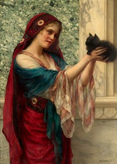 """The Willing Captive,"" by William Clarke Wontner (1857-1930)"