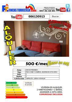 006130913 500 €/mes 2 hab 2 baño Miranda de Ebro  http://www.youtube.com/watch?v=b9VRVMdNcoE