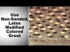 ▶ Glass Mosaic Tile Installation - YouTube via glasstileoasis.com