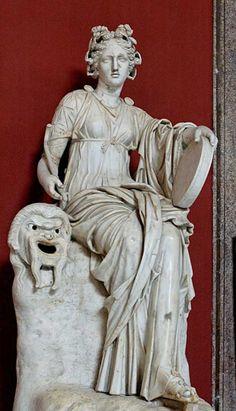 Talía (en griego antiguo Θάλεια, del verbo θάλλεω, thálleô: 'florecer') era una de las dos musas del teatro, la que inspiraba la comedia, y también era musa de la poesía bucólica o pastoril. Era una divinidad de carácter rural y se la representaba generalmente como una joven risueña, de aspecto vivaracho y mirada burlona, llevando en sus manos una máscara cómica como su principal atributo y, a veces, un cayado de pastor, una corona de hiedra en la cabeza como símbolo de la inmortalidad.