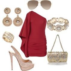 Red & Gold Glam